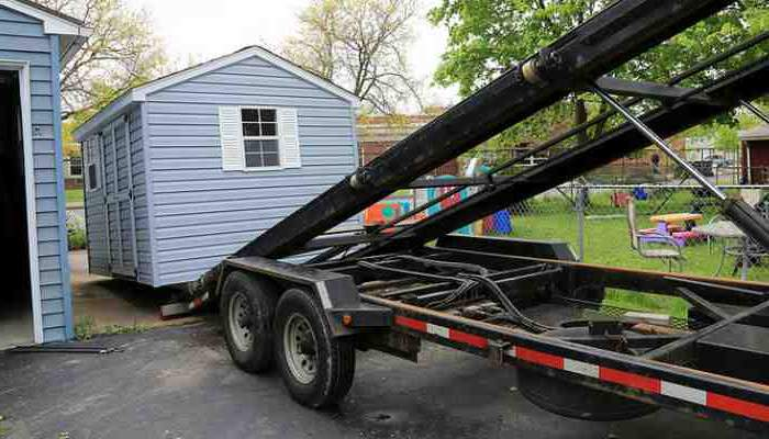 Asking tips to move a storage shed around Chicago ,