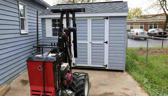 Shed mule and hydraulic tilt trailer are some of the types of equipment that are used to safely move and relocate sheds, small barns and storage or portable buildings.